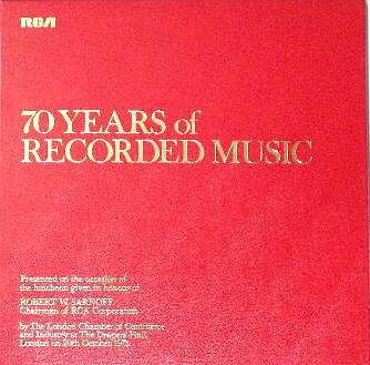 70 Years of Recorded Music {LP}